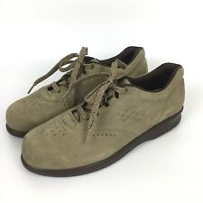SAS Women 7.5S Beige Taupe Suede Leather Comfort Orthopedic Walking Shoes