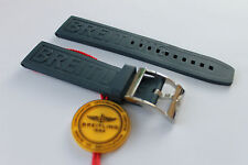 100% Genuine New Breitling Dark Blue Caoutchouc Rubber Diver Pro 3 Strap 22-20mm