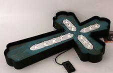 LED Cross Indoor Outdoor Dual Powered Wall Art 22 X 15 Exhart