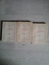 MARCEL PROUST LA RECHERCHE SODOME GOMORRHE TOME 5 PART 1, 2 ET 3 GALLIMARD 1940