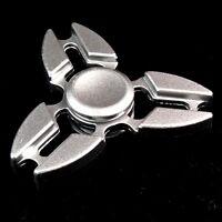 1 x Finger Hand Fidget Spinner 100% Metall silber Präzisionskugellager TopSpin 2