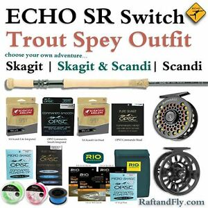 ECHO SR 4wt Trout Spey Outfit - Skagit, SA Scandi, or Both - FREE SHIPPING