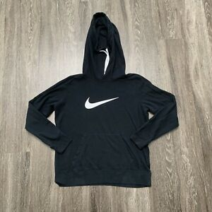 Nike Hoodie Womens XL Black Pullover Sweater Funnel Neck Running Training