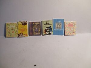 6 DOLLS HOUSE MINIATURE FRENCH BOOKS