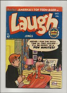 Laugh 47 Fine+ 6.5 Archie Jughead Betty Veronica GGA 1951
