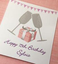 Personalised Birthday Card 21st, 40th, 75th Birthday, Engagement Anniversary etc