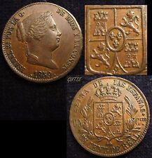 *GUTSE*557-ISABEL II, 25 CENTIMOS DE REAL 1859, SEGOVIA, EBC+