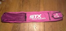 "STX canvas Field Hockey stick bag 38"" PINK mesh/nylon pockets / shoulder strap"