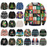 Funny Sweatshirt UGLY Christmas Sweater Hoodies Pullover Top Xmas Shirt Gift