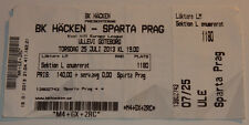 Ticket for collectors EL EL BK Hacken Sparta Praga Sweden Czech Republic 2013
