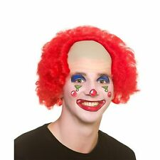 Funny Clown Wig Circus Performer Adults Mens Fancy Dress Costume Accessory