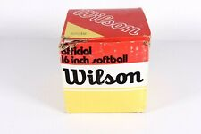 "Vintage Wilson 16"" Official Softball A9216 In Original Box"