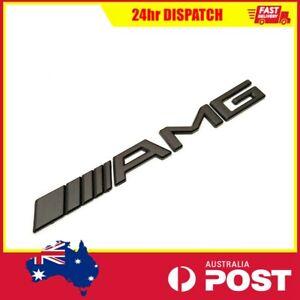 Black AMG LOGO Badge Emblem Sticker Mercedes Benz A C E CLA GLA GLC GLA