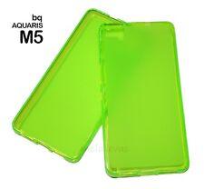 Funda para BQ AQUARIS M5 Gel-Tpu semitransparente verde