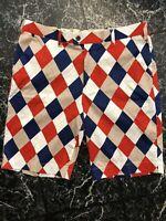 Men's Loudmouth Plaid Golf Shorts Size 36