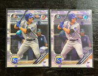 Brewer Hicklen 1st Bowman Lot(2) 2019 Bowman Kansas City Royals Chrome & Paper