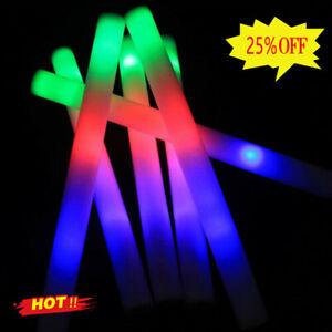 10x Light Up Foam Sticks LED Wands Rally Rave Batons DJ Flashing Glow Stick 2021