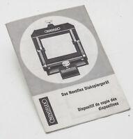 Bedienungsanleitung Novoflex Diakpiergerät Anleitung