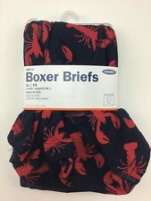 "Old Navy Boxer Briefs Size XL.  Size XL, 40""-42"".  Blue, Red Lobsters.  Soft."
