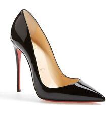 Christian Louboutin So Kate Pointy Toe 120 Pump Shoe Black Patent 35 EU 4 US