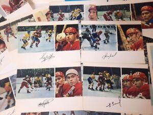 Postcard USSR national hockey team Fifteen-time World Champion 1971 Autograph