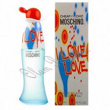 Moschino I Love Love For Women Eau de Toilette Spray 3.4oz 100ml * New in Box *