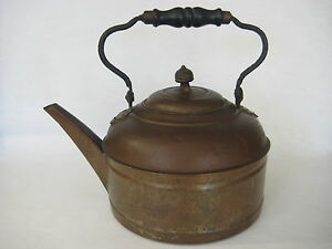 RARE OLD ANTIQUE ROCHESTER PATD MAY 9,93 COPPER WATER KETTLE,  6 QUART