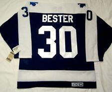 ALLAN BESTER size LARGE Toronto Maple Leafs CCM 550 VINTAGE series Hockey Jersey