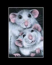 Rat ACEO Print Two Guys by I Garmashova