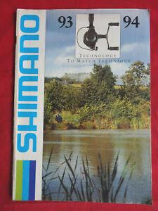 A SHIMANO 1993/1994 ADVERTISING FISHING CATALOGUE