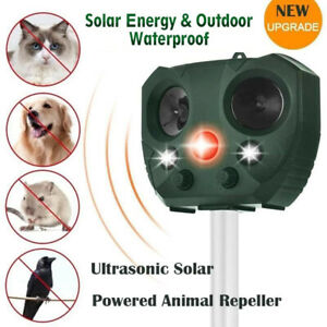 Solar Ultrasonic Animal & Pest Repeller Motion Sensor Bird Rat Possum Repellent