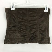Maidenform Womens Size 7 Large Corset Brown Hook and Eye Closure