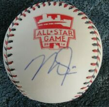 MIKE TROUT OML AUTOGRAPHED BASEBALL 2014 ALL STAR GAME MINT COA