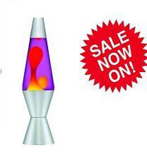 XL Retro Lava Lamp Classic Large Rocket Yellow Purple Decorative Lighting Larva