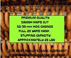 Natural Danish Hog Casings for Sausage (Knife Cut) Worlds Best) 32/35