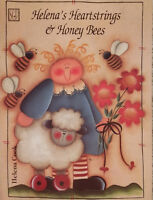 Helena's Heartstrings & Honey Bees By Helena Cook Cats Tole Painting Book RARE.