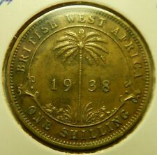 1938 BRITISH WEST AFRICA ONE SHILLING - VF - # 8/12