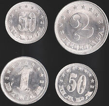 Yugoslavia 1 & 2 Federation Dinar - 50 Para (11) All 1953 - Unc