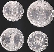 Yugoslavia 1 & 2 Federation Dinar - 50 Para (11) All 1953 - Unc