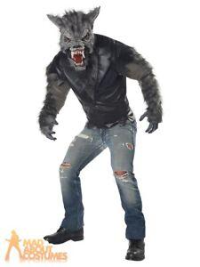 Adult Full Moon Fury Werewolf Costume Wolf Halloween Mens Fancy Dress Outfit