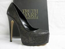 Truth Or Dare By Madonna Size 9 M Langlade Black Leather Pumps Womens Shoes