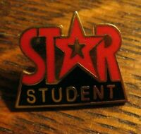 Star Student Lapel Pin - Vintage Groovy Education Scholastic Achievement Badge