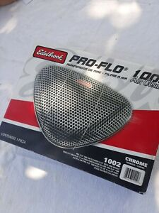 EdelBrock 1002 Air Cleaner Pro-Flo 1000 Triangular Fits SBC BBC SBF Chevy Ford