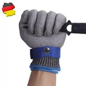 Edelstahl Stechschutzhandschuhe Kettenhandschuh Sicherheits-Handschuh Metzger DE