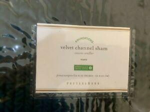 Velvet Channel Sham- Euro- Dark Green