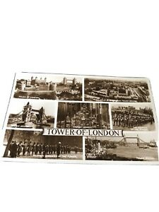 Tower Of London. 1956 Posted Multiview Postcard