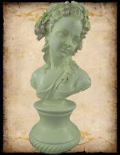 Büste Figur junge Frau vornehm Skulptur Geschenk Stil Alabaster farben Polystein