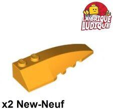 Lego - 2x Wedge 6x2 right droit brique pente bright light orange cl. 41747 NEUF