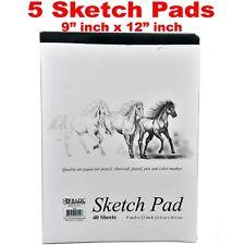 5 Sketchbooks Sketch Pads Doodle Drawing Books Board Marker Paper 200 Sheets