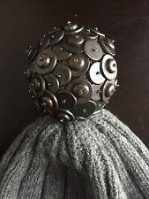 Authentic Burberry Cashmere Beanie Hat Knit Pompom Runway